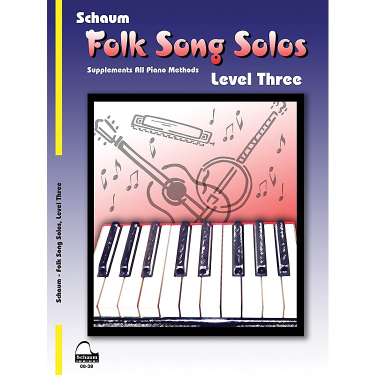 SCHAUMFolk Song Solos (Level 3) Educational Piano Book (Level Early Inter)