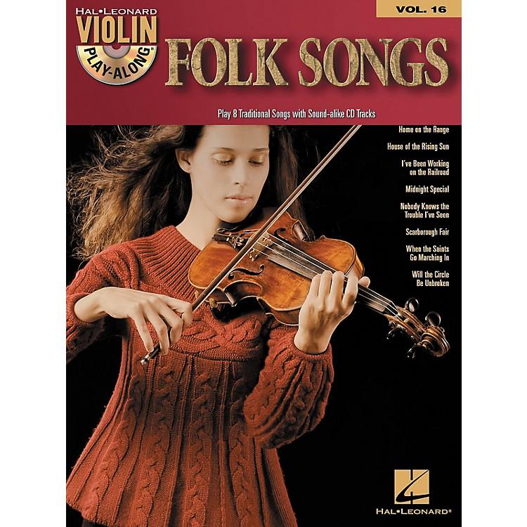 Hal LeonardFolk Songs - Violin Play-Along Volume 16 (Book/CD)