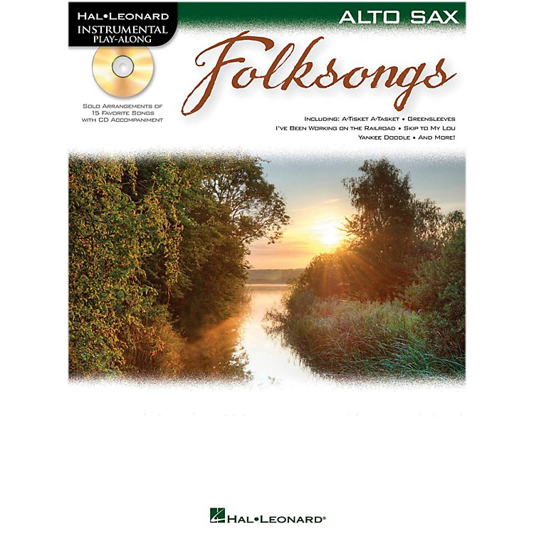 Hal Leonard Folk Songs For Alto Sax  Instrumental Play-Along Book/CD