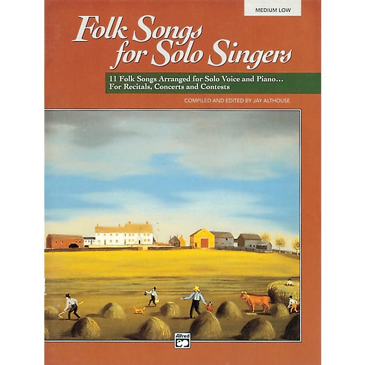 AlfredFolk Songs for Solo Singers Vol. 1 Book & CD (Medium Low)
