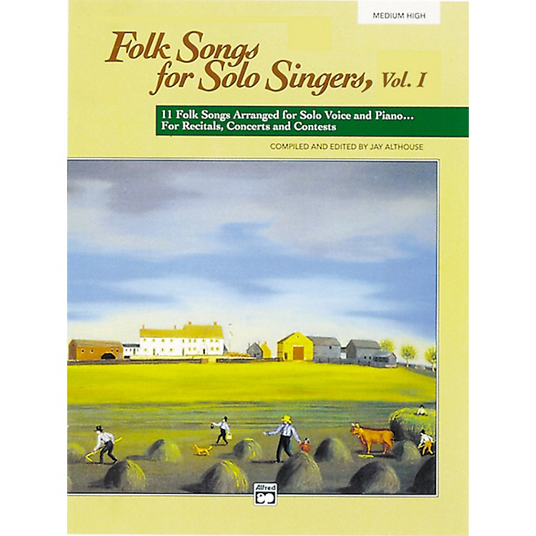 AlfredFolk Songs for Solo Singers Vol. 1 Medium High Voice Book & CD