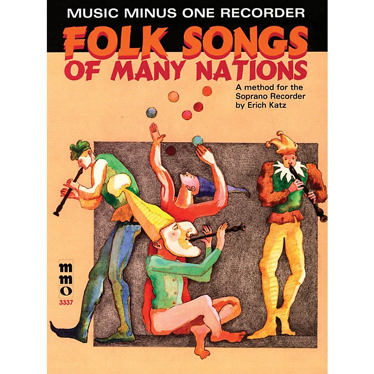 Music Minus OneFolk Songs of Many Nations (Music Minus One Recorder) Music Minus One Series Softcover with CD