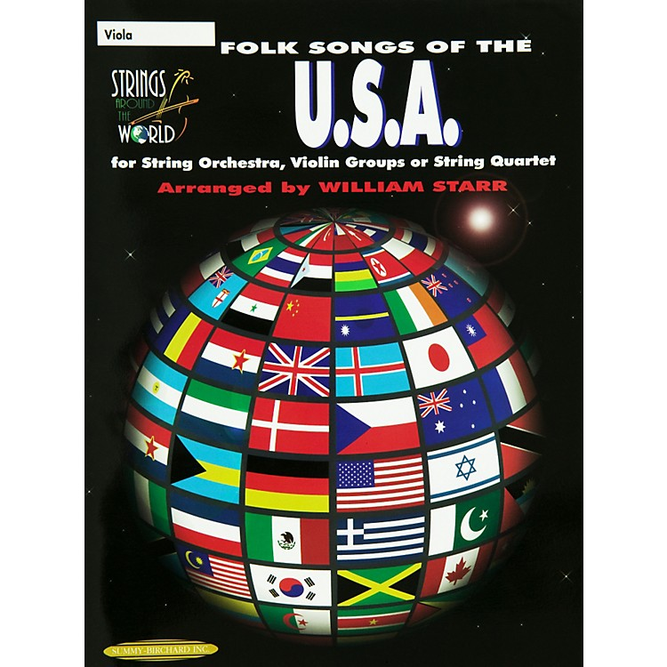 AlfredFolk Songs of the USA Viola (Book)