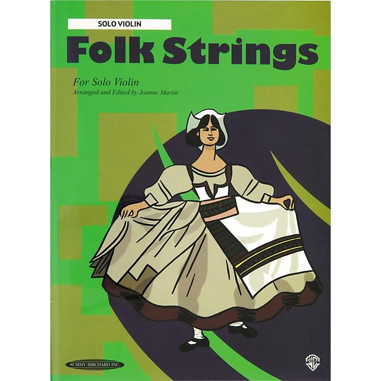 AlfredFolk Strings for Solo Violin (Book)