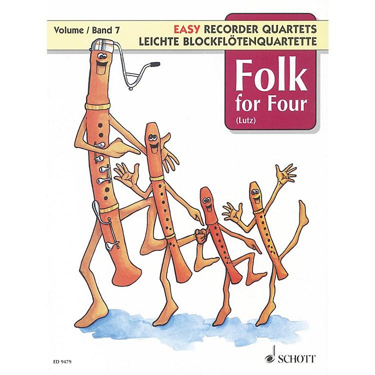 SchottFolk for Four - Volume 7 Schott Series Softcover  by Various Arranged by Wilhelm Lutz