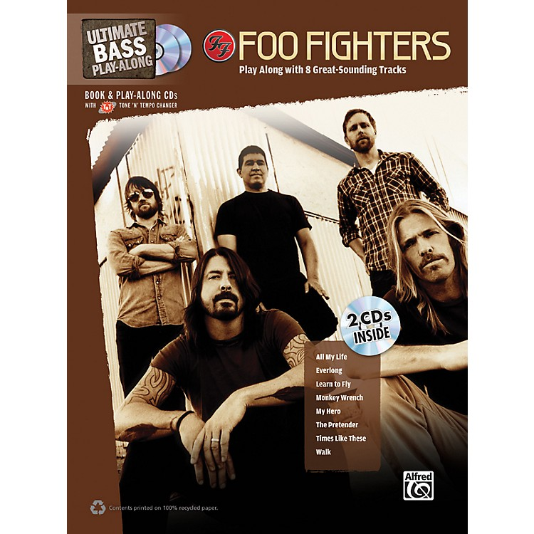 AlfredFoo Fighters Ultimate Play-Along Bass TAB Book & 2 CDs