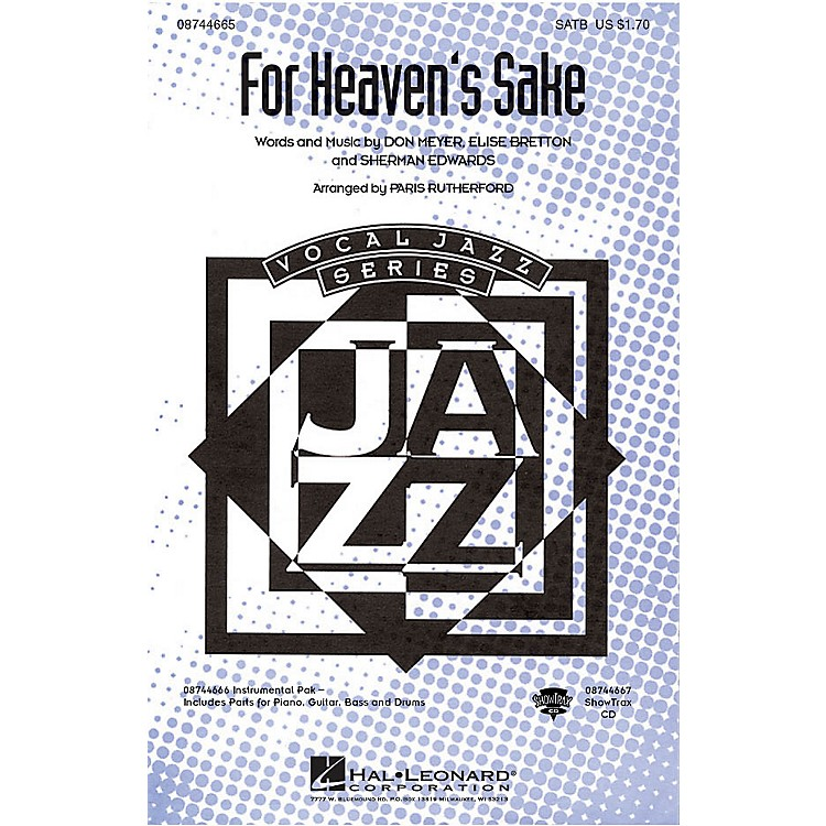 Hal LeonardFor Heaven's Sake SATB arranged by Paris Rutherford