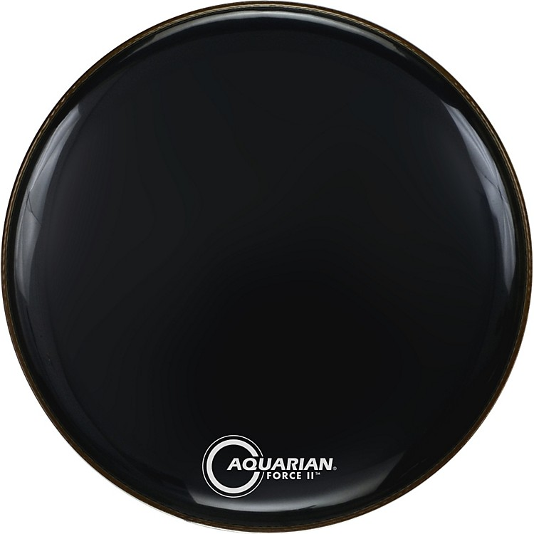 Aquarian Force II Resonant Bass Drum Head Black 24 in.