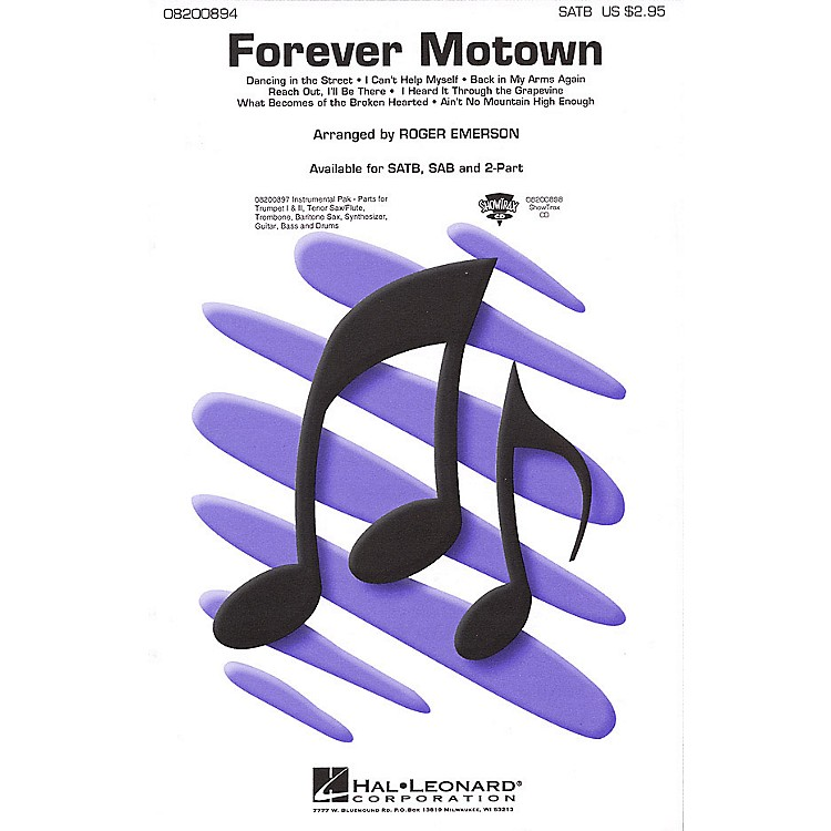 Hal Leonard Forever Motown (Medley) SATB arranged by Roger Emerson