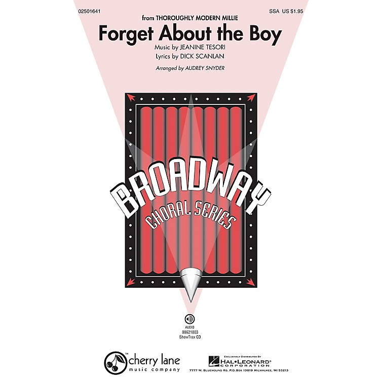 Cherry LaneForget About the Boy (from Thoroughly Modern Millie) SSA arranged by Audrey Snyder
