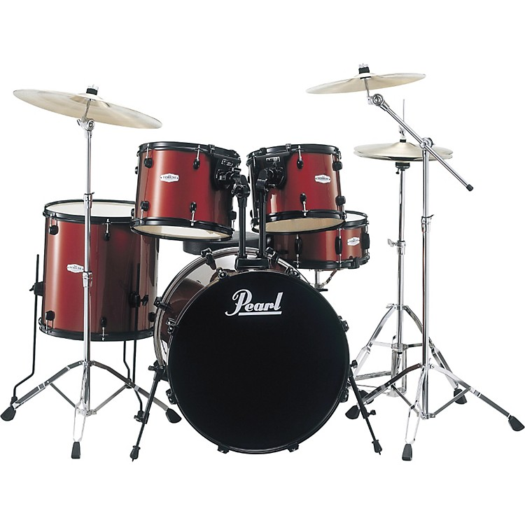 PearlForum 5-Piece Drum Set with Meinl Cymbals and SP HardwareBlack with Black Hardware