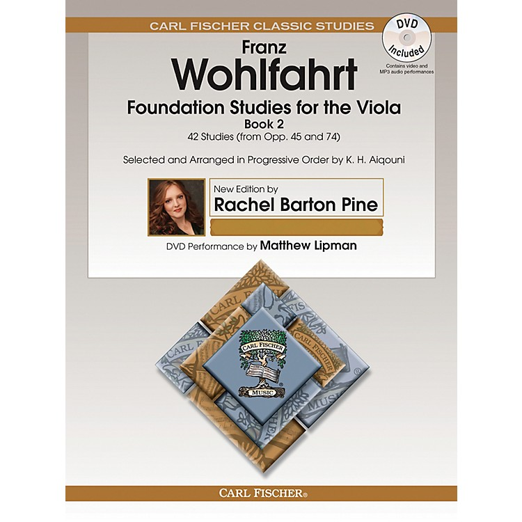 Carl FischerFoundation Studies for the Viola - Book 2 (from Opp. 45 and 74) Book/DVD