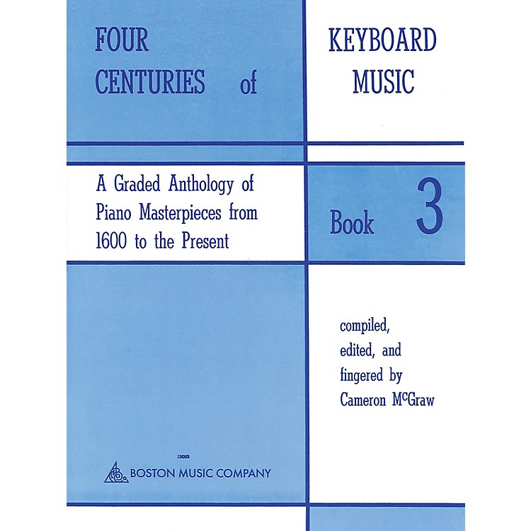 Music Sales Four Centuries Of Keyboard Music Book 3 Music Sales America Series