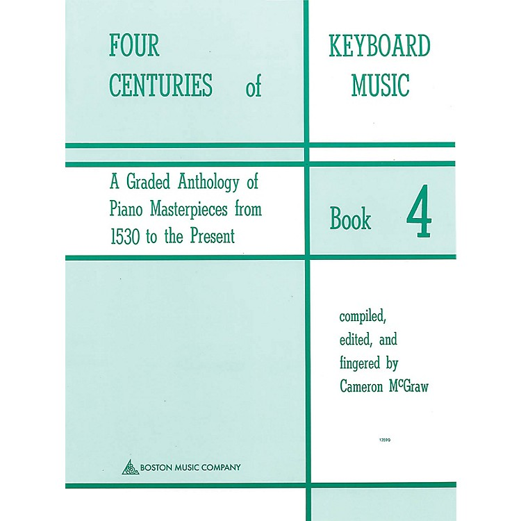 Music Sales Four Centuries Of Keyboard Music Book 4 Music Sales America Series