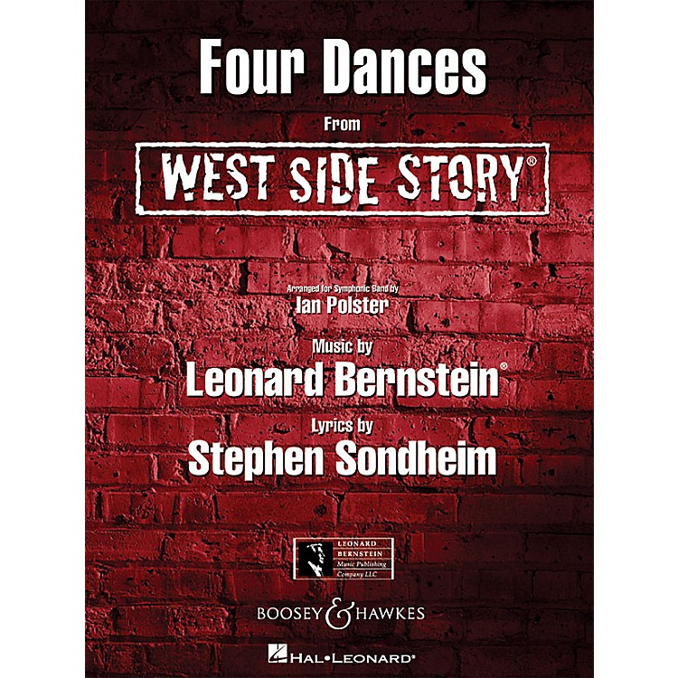 Hal Leonard Four Dances from West Side Story Concert Band Level 4-5 Arranged by Ian Polster