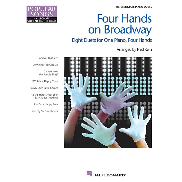 Hal LeonardFour Hands on Broadway Piano Library Series Book (Level Inter to Late Intermedi)