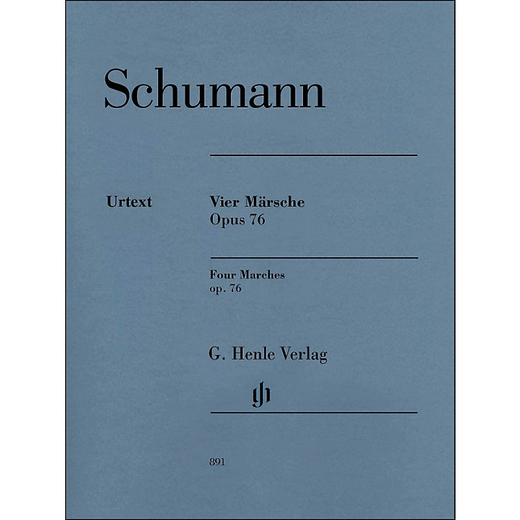 G. Henle VerlagFour Marches Op. 76 Piano Solo By Schumann / Herttrich