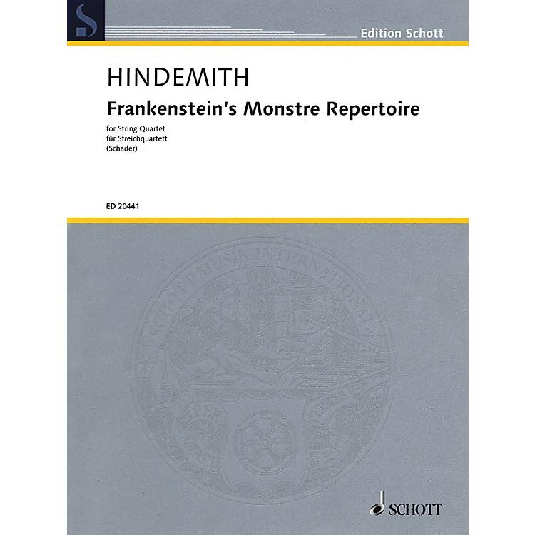 Schott MusicFrankenstein's Monstre Repertoire (String Quartet Score and Parts) String Series