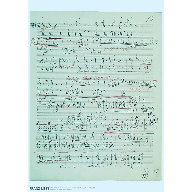 Axe HeavenFranz Liszt Music Manuscript Poster - Piano Sonata in B minor