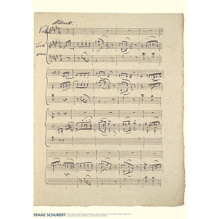 Hal LeonardFranz Schubert Music Manuscript Poster Henle Music Folios Series by Franz Schubert