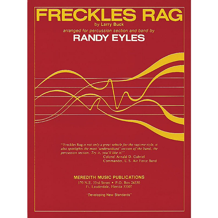 Hal LeonardFreckles Rag (for Percussion Section and Band) Meredith Music Resource Series Arranged by Randy Eyles