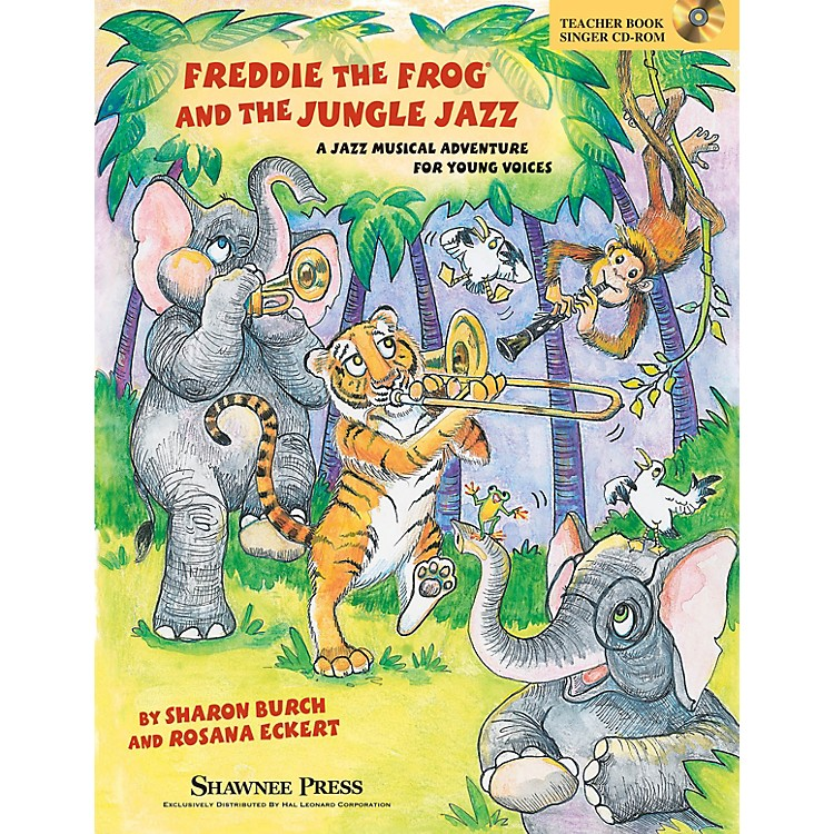 Shawnee PressFreddie the Frog and the Jungle Jazz (A Musical Jazz Adventure for Young Voices) PREV CD by Sharon Burch