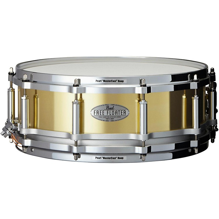 PearlFree Floating Brass Snare Drum14 x 5 in.