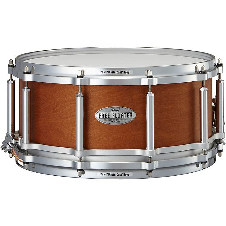 Pearl Free Floating Mahogany/Maple Snare Drum 14 x 6.5 in.