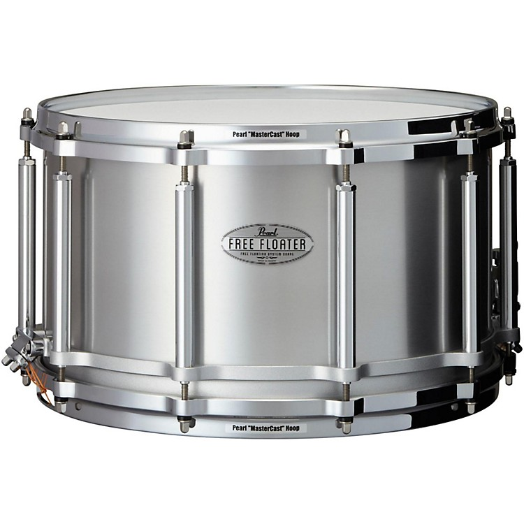 PearlFree Floating Seamless Aluminum Snare Drum14 x 8 in.