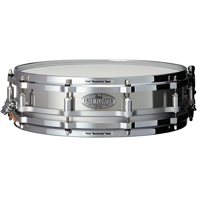 PearlFree Floating Stainless Steel Snare Drum14 x 3.5 in.