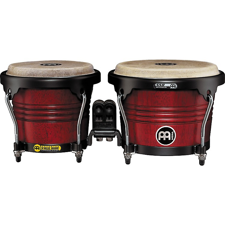 Meinl Free Ride Series Wood Bongo Cherry Red