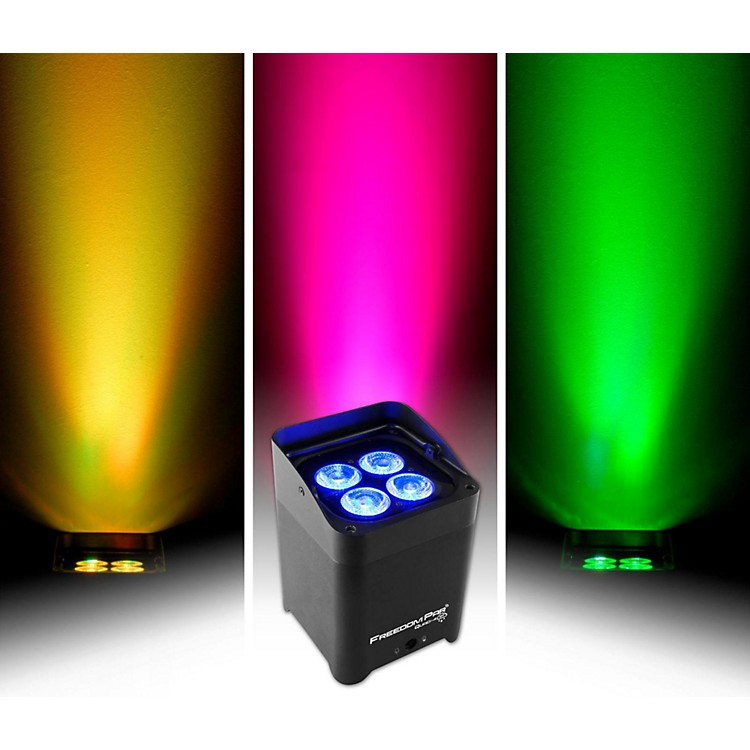 CHAUVET DJFreedom Par Quad-4 IP Indoor/Outdoor Battery-Powered Wirelss LED Par-Style Wash Light