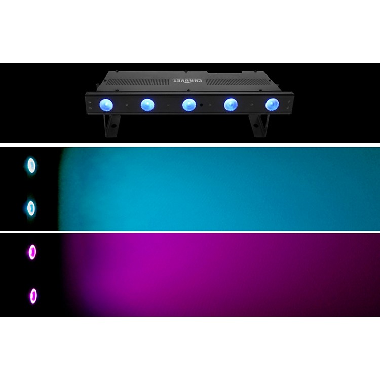 Chauvet DJ Freedom Strip Mini Quad-5 RGBA Wireless Quad Color LED Wash Black