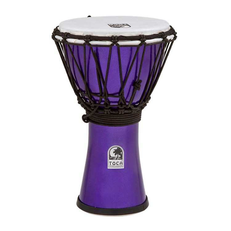 Toca Freestyle ColorSound Djembe Metallic Yellow 7 in.
