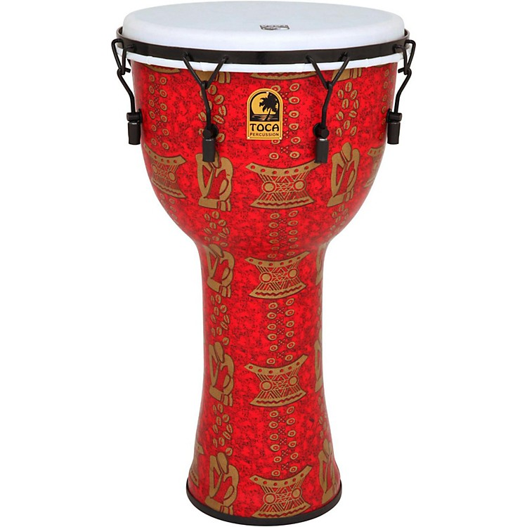 TocaFreestyle II Mechanically-Tuned Djembe9 in.Red Mask