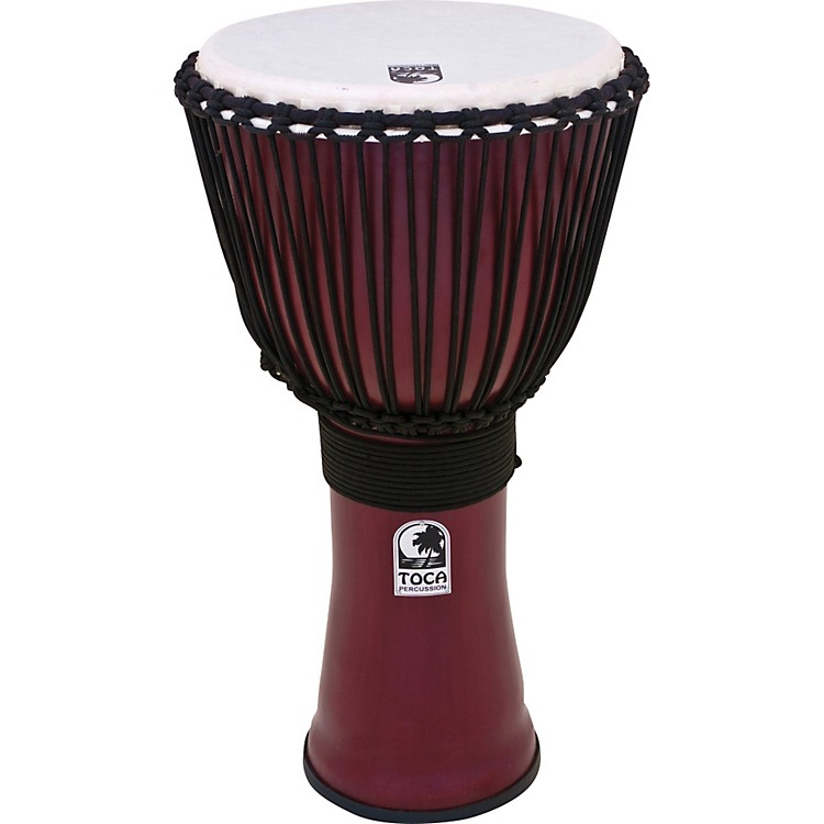 Toca Freestyle II Rope-Tuned Djembe 14 in. Deep Red