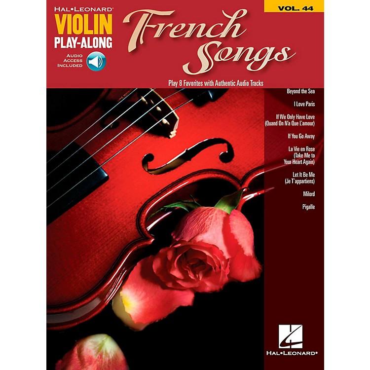 Hal LeonardFrench Songs Violin Play-Along Volume 44 Book w/ Online Audio