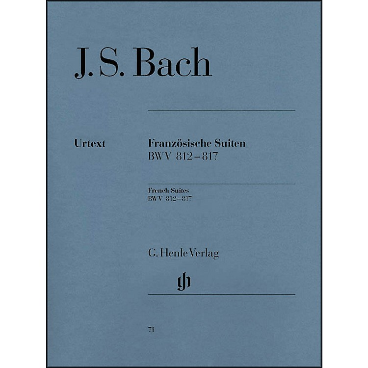 G. Henle VerlagFrench Suites BWV 812-817 By Bach / Steglich