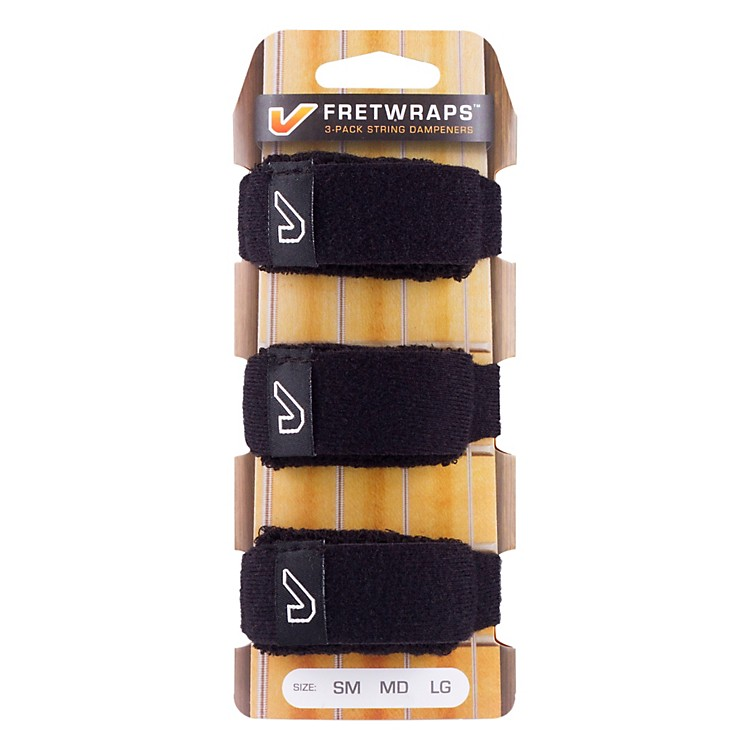 Gruv Gear FretWraps String Muters (3-Pack) Large Black