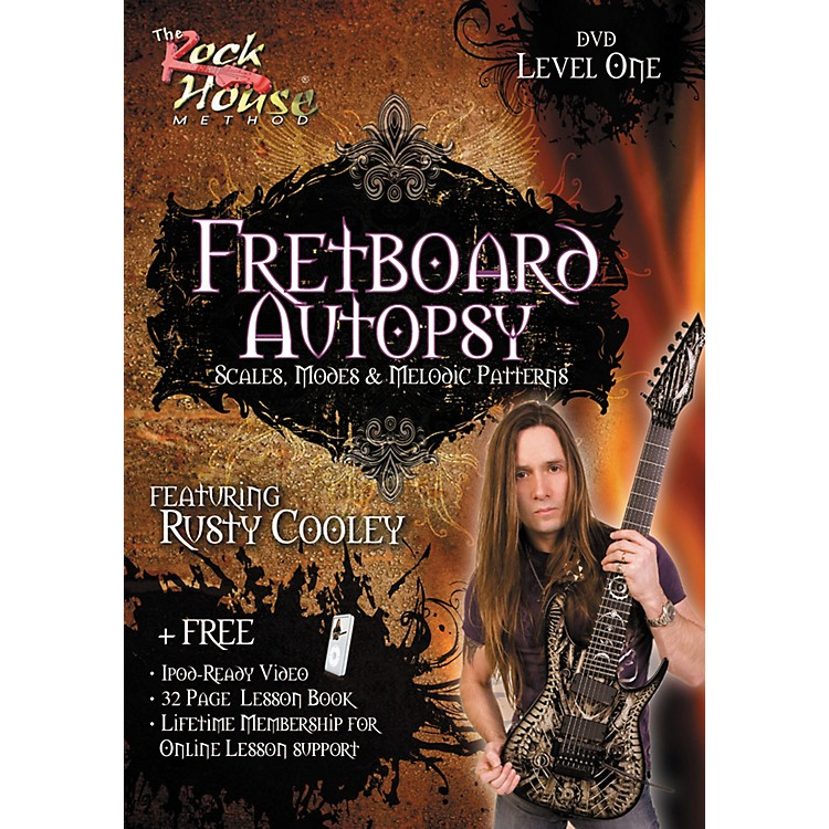 Rock HouseFretboard Autopsy - Scales, Modes & Melodic Patterns, Level 1 Featuring Rusty Cooley DVD