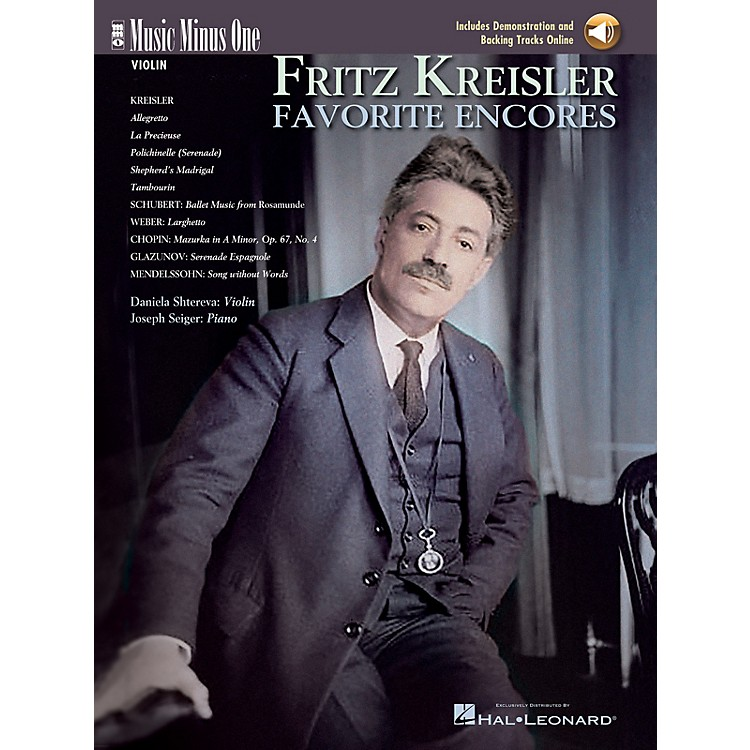 Music Minus OneFritz Kreisler - Favorite Encores (Deluxe 2-CD Set) Music Minus One Series Softcover with CD