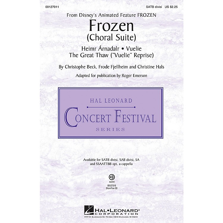 Hal Leonard Frozen (Choral Suite) ShowTrax CD Composed by Christophe Beck