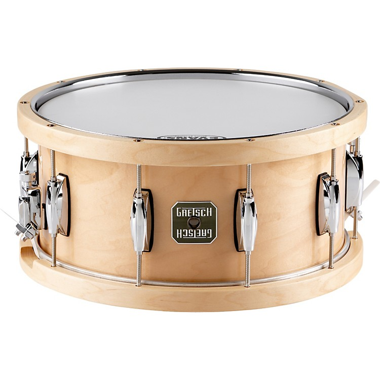 Gretsch Drums Full Range Maple Snare Drum with Wood/Metal Batter Hoop