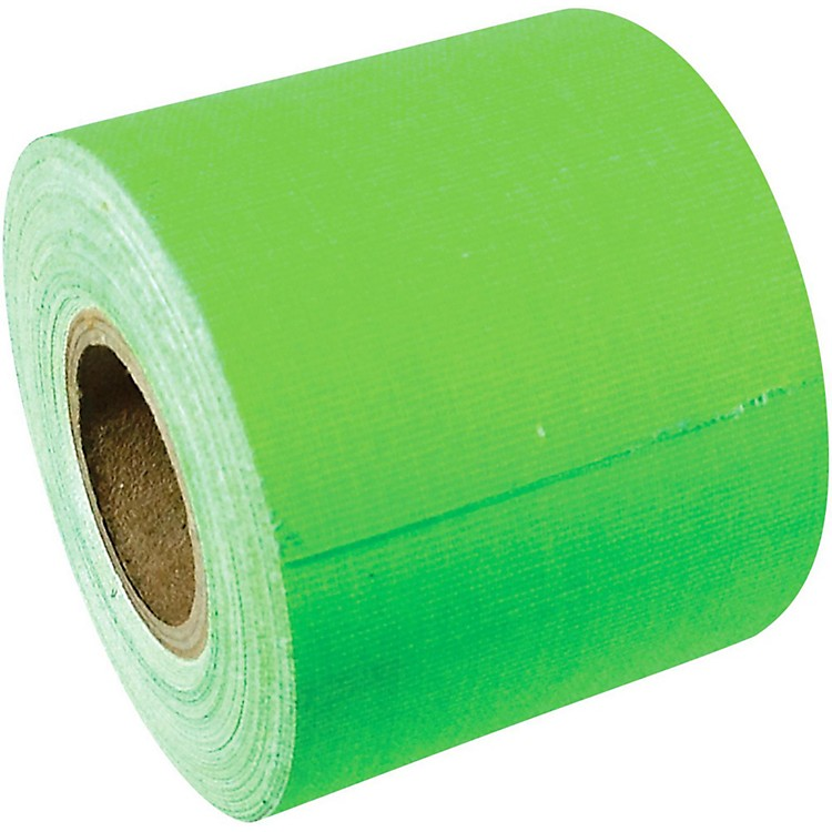 American Recorder Technologies Full Roll Gaffers Tape 2 In x 50 Yards Flourescent Colors Neon Green