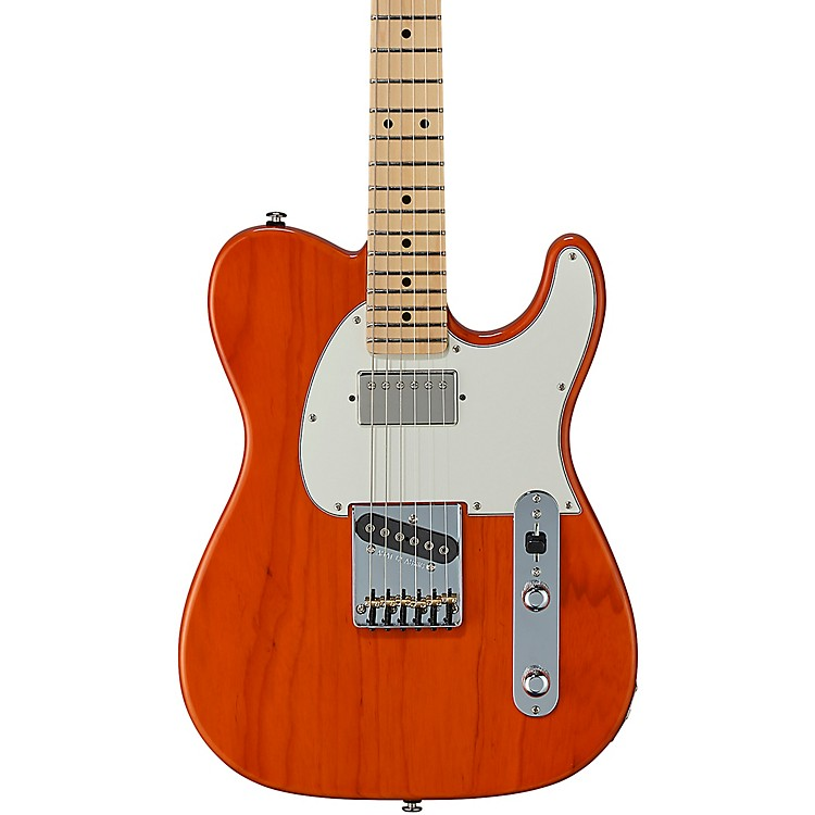 G&L Fullerton Deluxe ASAT Classic Bluesboy Maple Fingerboard Electric Guitar Clear Orange