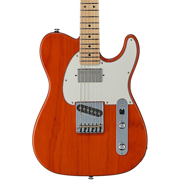 G&LFullerton Deluxe ASAT Classic Maple Fingerboard Electric GuitarClear Orange