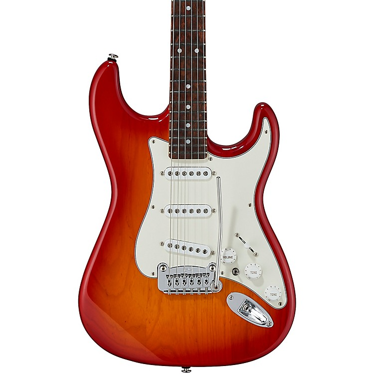 G&LFullerton Deluxe S-500 Caribbean Rosewood Fingerboard Electric GuitarCherry Burst