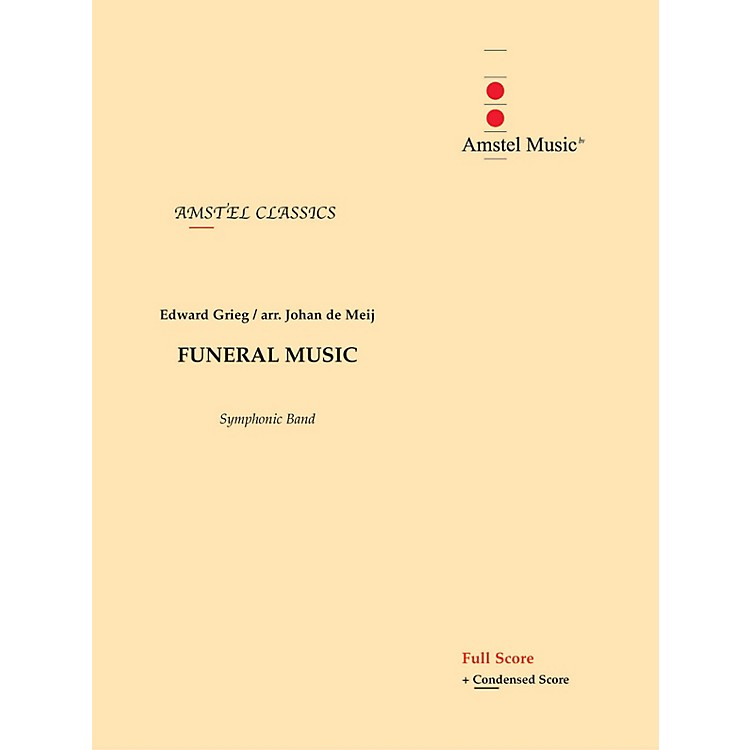 Amstel Music Funeral Music (from The Melodrama Bergliot) (Score Only) Concert Band Level 2-3 Arranged by Johan de Meij