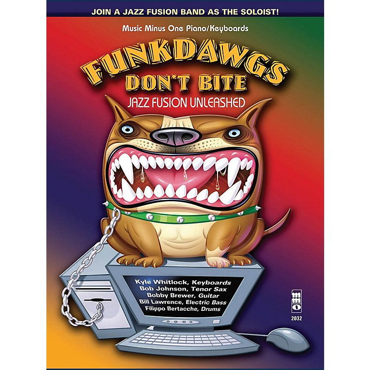 Music Minus OneFunkdawgs Don't Bite - Jazz Fusion Unleashed (Guitar) Music Minus One Series Softcover with CD