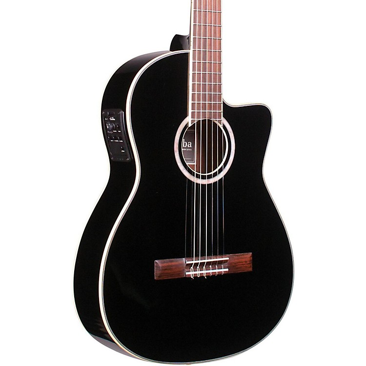 Cordoba Fusion 12 Jet Acoustic-Electric Nylon String Classical Guitar Black 190839022912